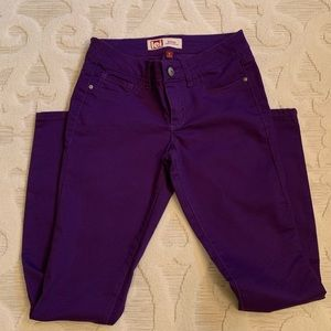 NEW LEI purple jeans NWOT